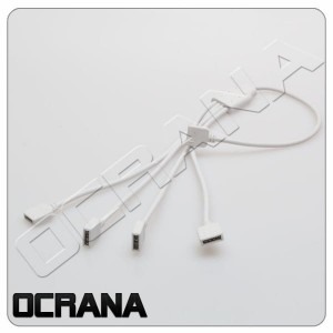 ROZDZIELACZ LED KABEL 4PIN do RGB+ KONEKTOR 4PIN na 4x 4PIN